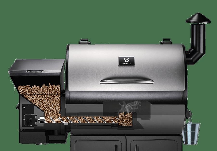 Z Grills 700E Wood Pellet Smoker Grill Transparent Cutaway
