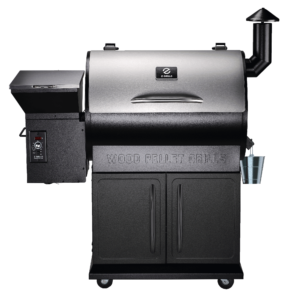 Front view of the Z Grills 700E-XL Pellet Smoker