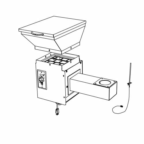 Smoker Conversion Kit Line Drawing